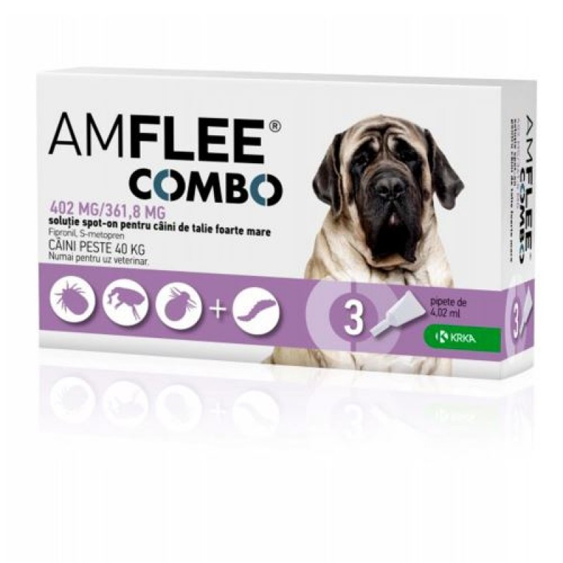 Amflee Combo Dog XL 40 60 Kg 1 Pipeta