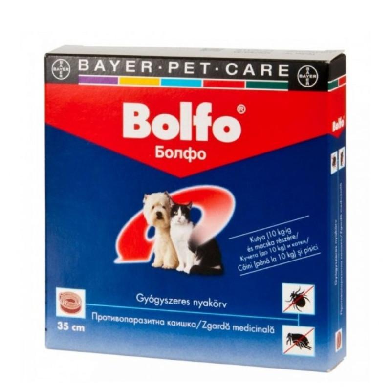 Bolfo 38 Cm Zgarda Antiparazitara Pentru Pisici si Caini de Talie Mica