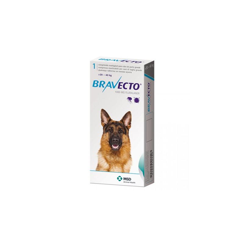 Bravecto 20-40 Kg 1 Tableta x 1000 Mg