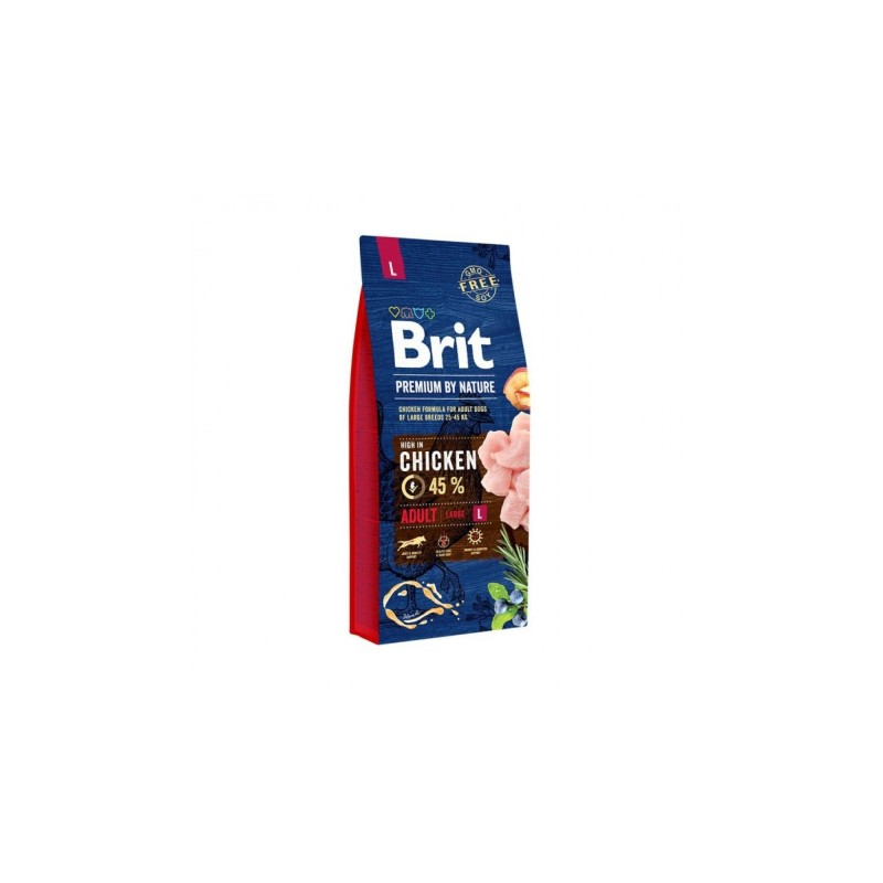 Brit Premium By Nature Adult L 8 Kg PLUS 1 Conserva Brit Premium by Nature x 400 gr CADOU