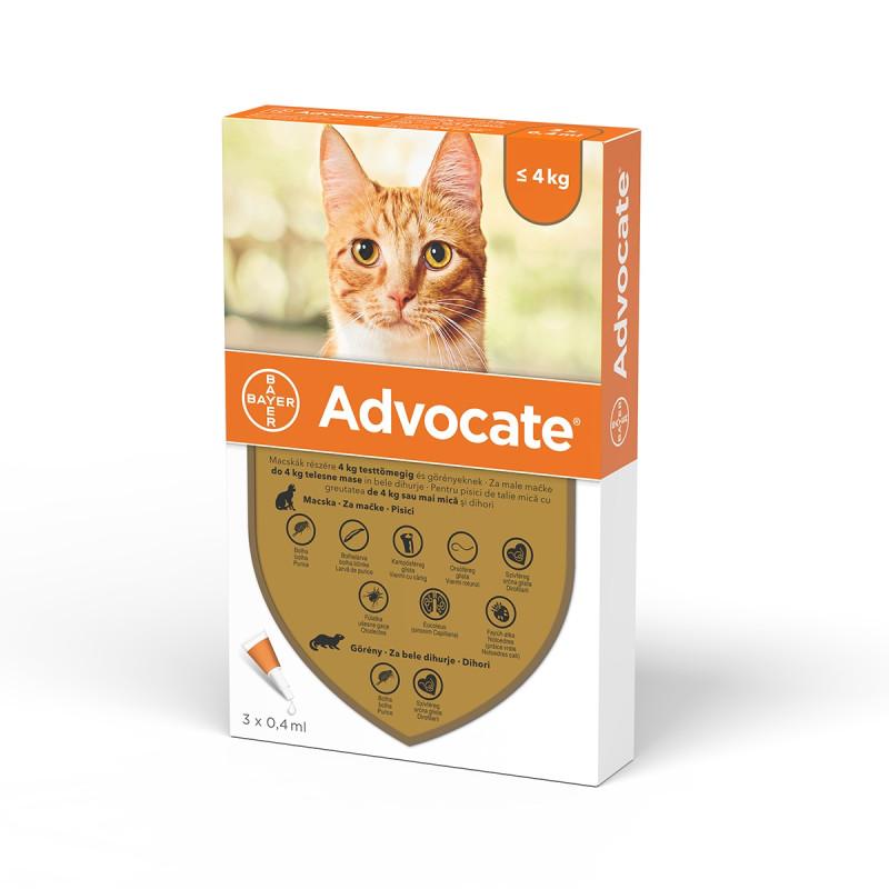 Advocate Pisica 0-4 Kg 1 Pipeta