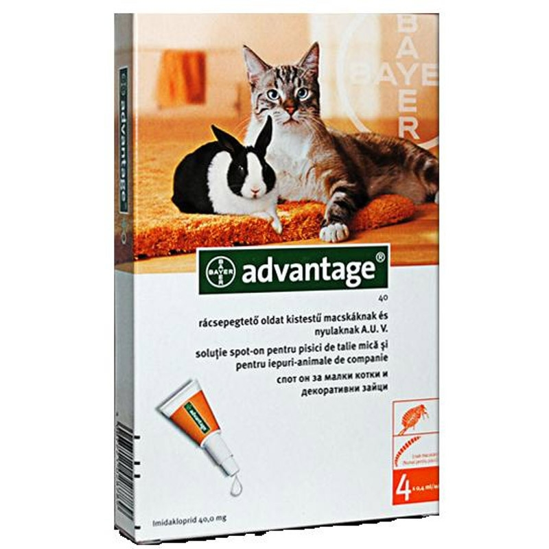 Advantage  Pisica/Iepure 40 0-4 Kg 1 Pipeta