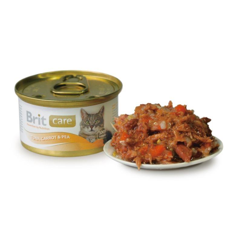 Brit Care Cat Tuna Carrot And Pea Conserva 80 Gr