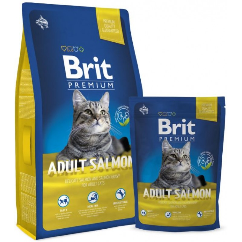 Brit Premium Cat Adult Cu Somon 1.5 Kg
