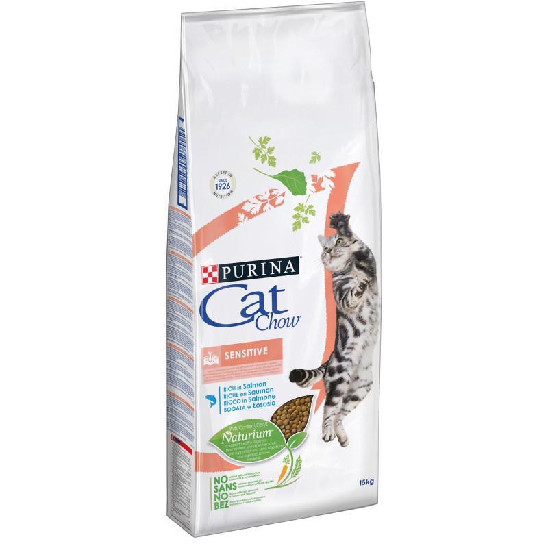 Cat Chow Sensitive Cu Somon 1.5 Kg