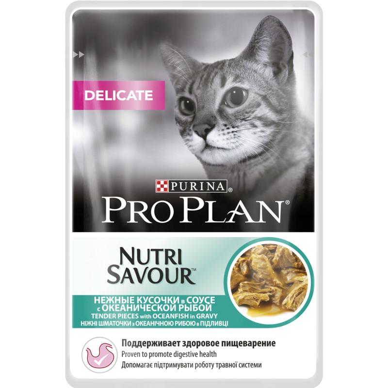 Pro Plan Delicate Nutrisavour Plic Cu Peste Oceanic 85 Gr