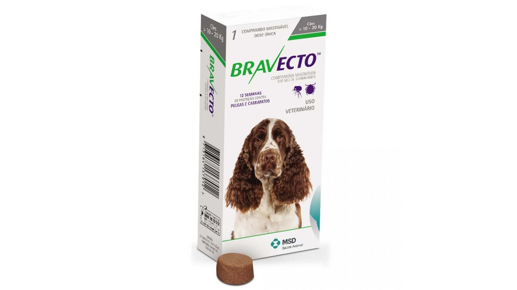 Bravecto 10-20 Kg 1 Tableta x 500 Mg shop4pet.ro