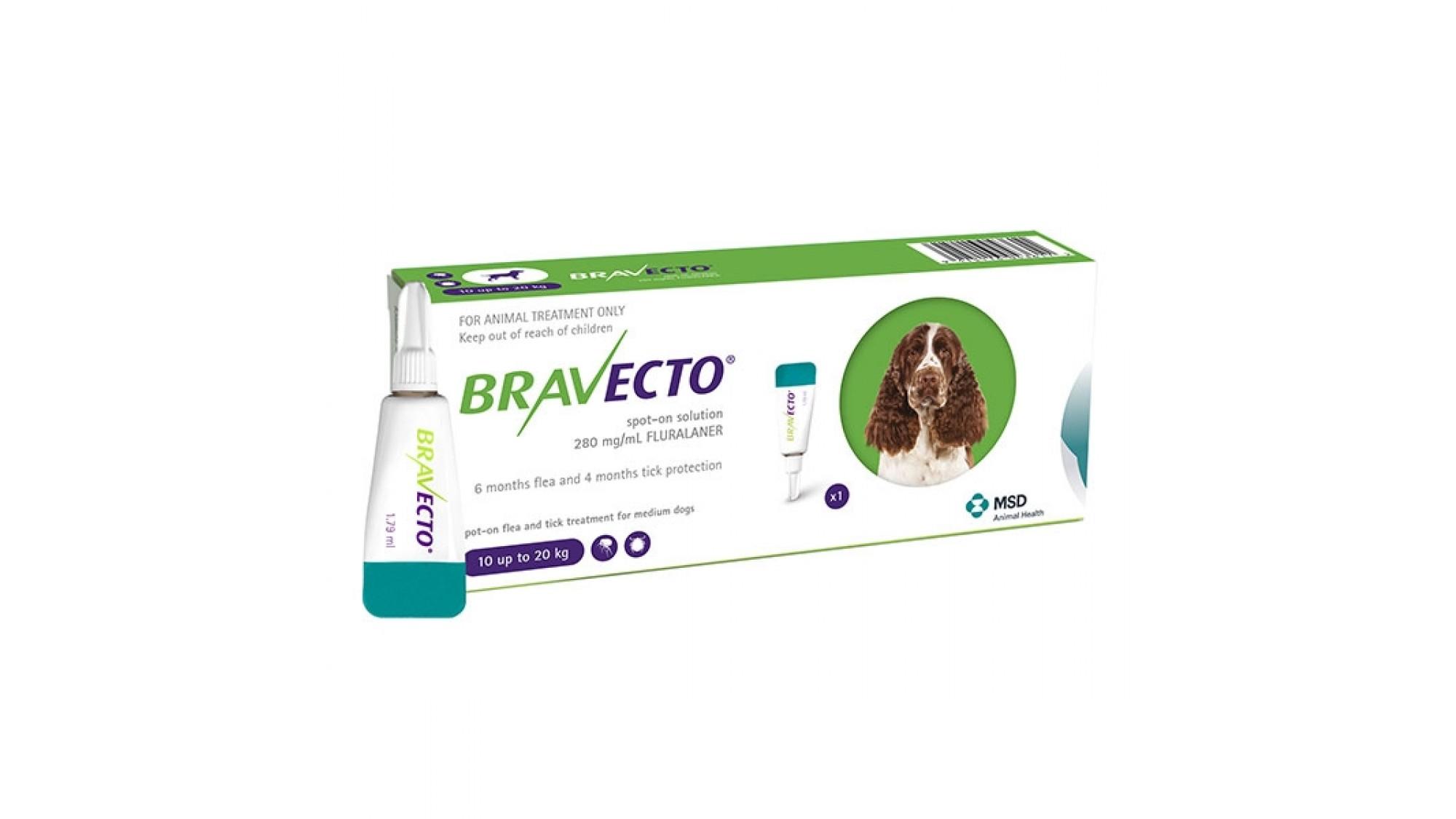 Bravecto 10-20 Kg 1 Pipeta x 500 Mg shop4pet.ro
