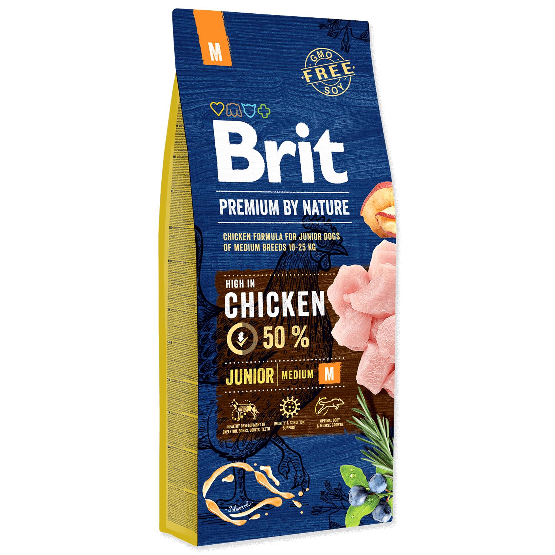 Brit Premium By Nature Junior M 15 Kg shop4pet.ro
