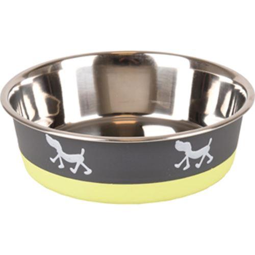 Castron Grey/Lime 400 ML 14 CM shop4pet.ro