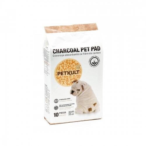 Covor Absorbant Petkult Charcoal 60x90 Cm 10 Buc/set shop4pet.ro