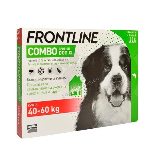 Frontline Combo XL Pentru Caini cu Greutatea Intre 40 60 kg 1 pipeta shop4pet.ro