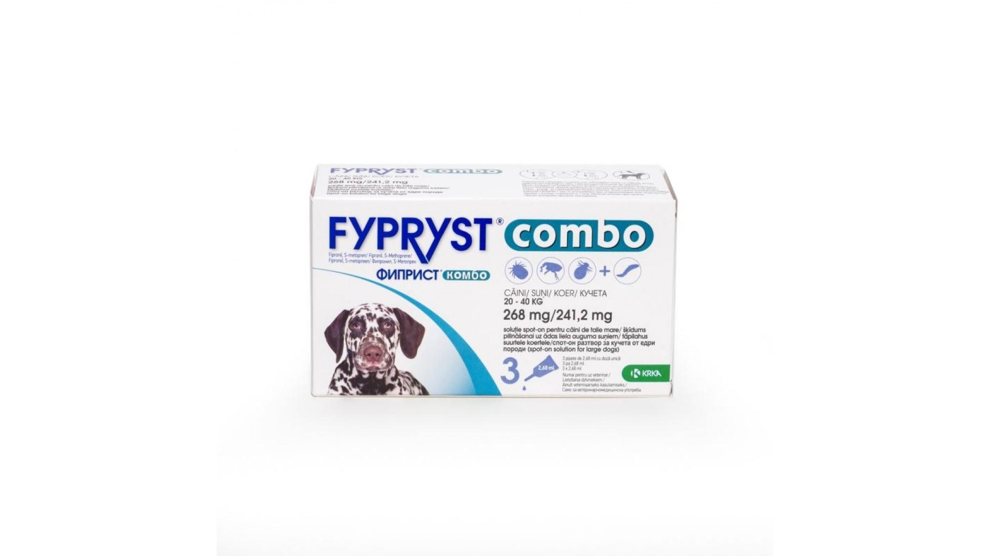 Fypryst Combo Dog L 268 mg 20-40 kg 1 Pipeta shop4pet.ro