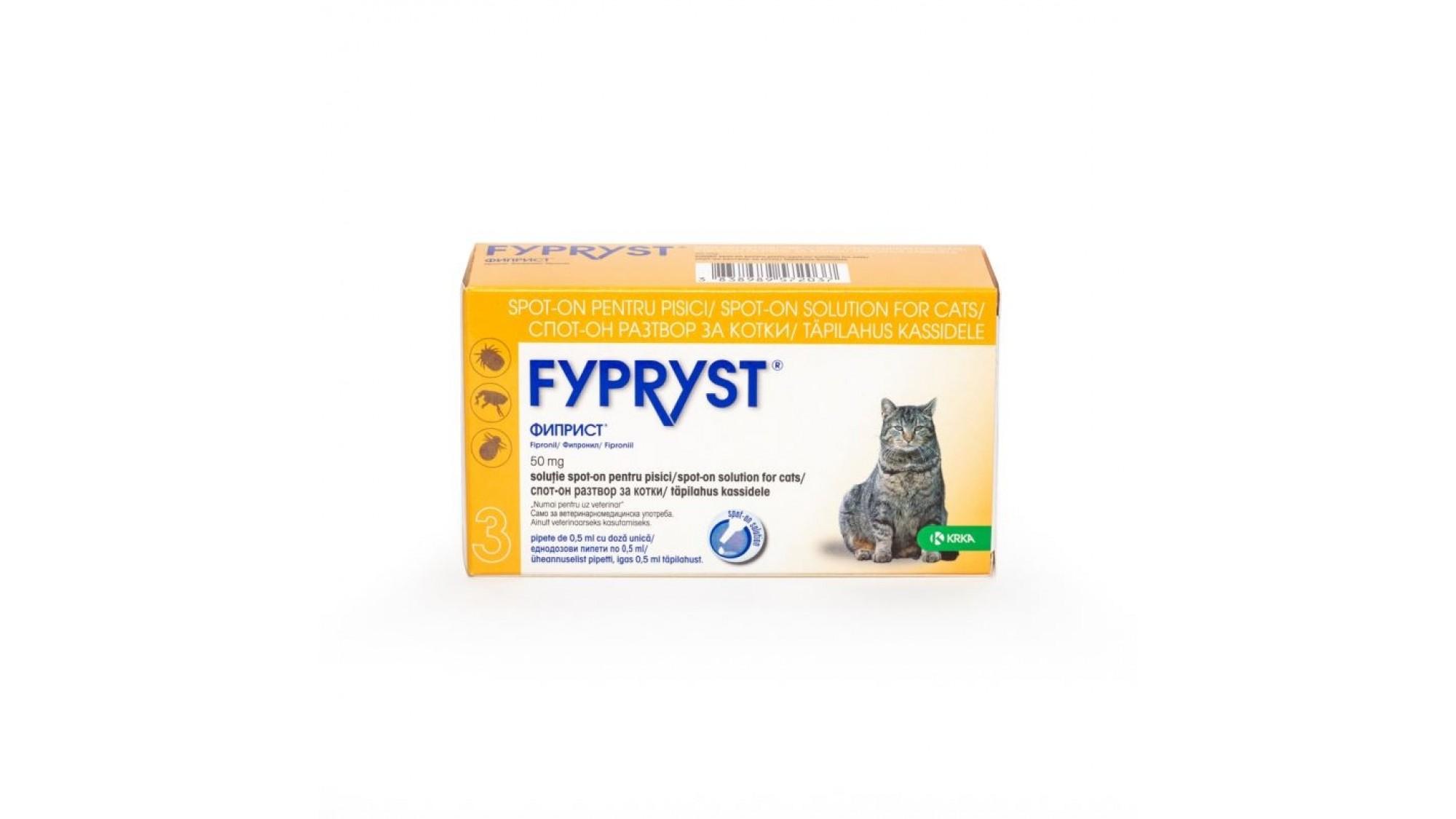 Fypryst Cat 50 mg, 1 Pipeta shop4pet.ro