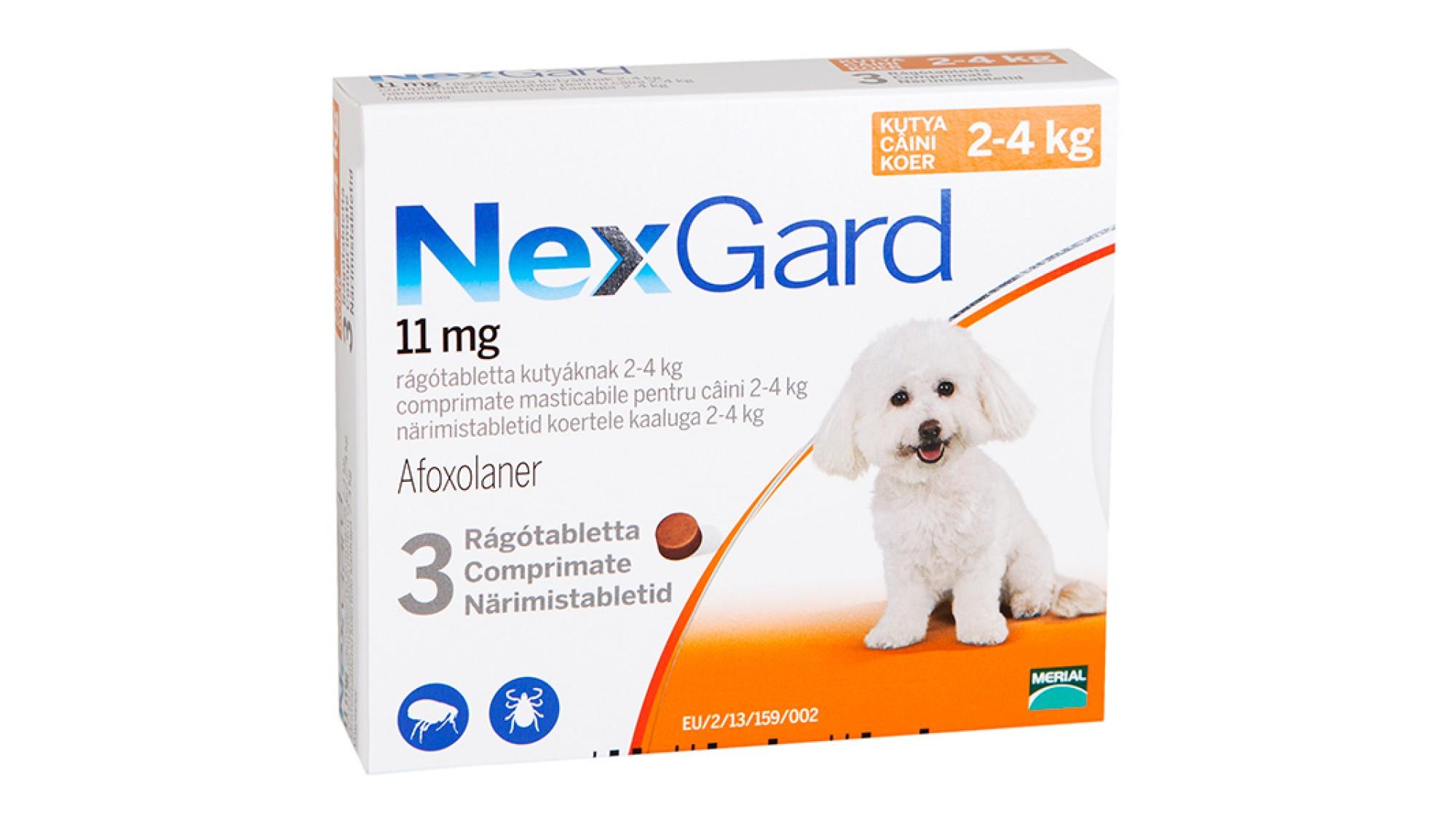 Nexgard Dog S 2-4 Kg 11 Mg x 3 Tablete shop4pet.ro