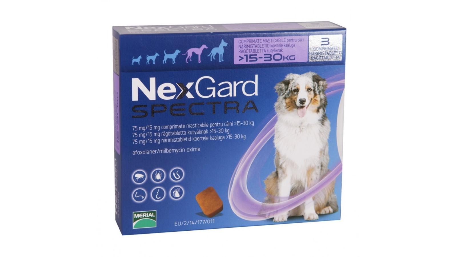 Nexgard Spectra Caine L 15-30 kg Kg x 1 Tableta shop4pet.ro