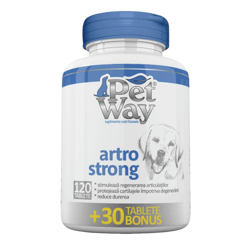 Supliment Nutritiv Petway Artro Strong 120 tbl+ 30 tbl Bonus shop4pet.ro