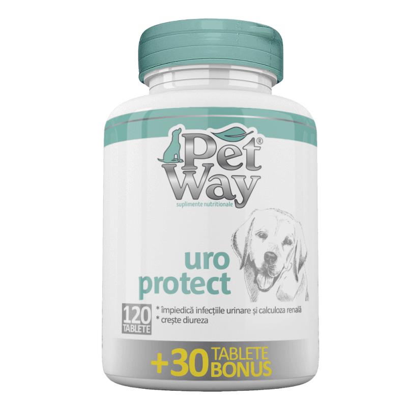 Supliment Nutritiv Petway Uroprotect 120 tbl+ 30 tbl Bonus shop4pet.ro