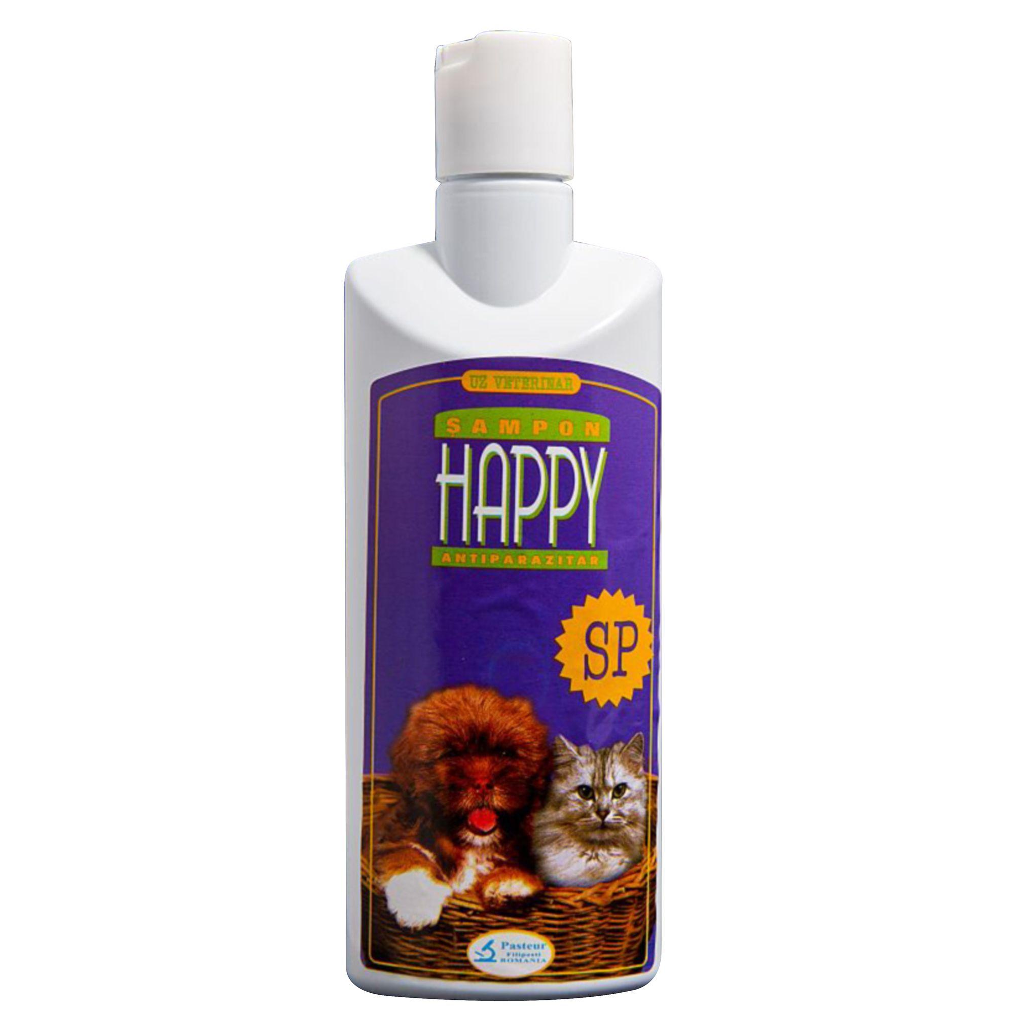 Sampon Antiparazitar Happy SP 200 ml shop4pet.ro