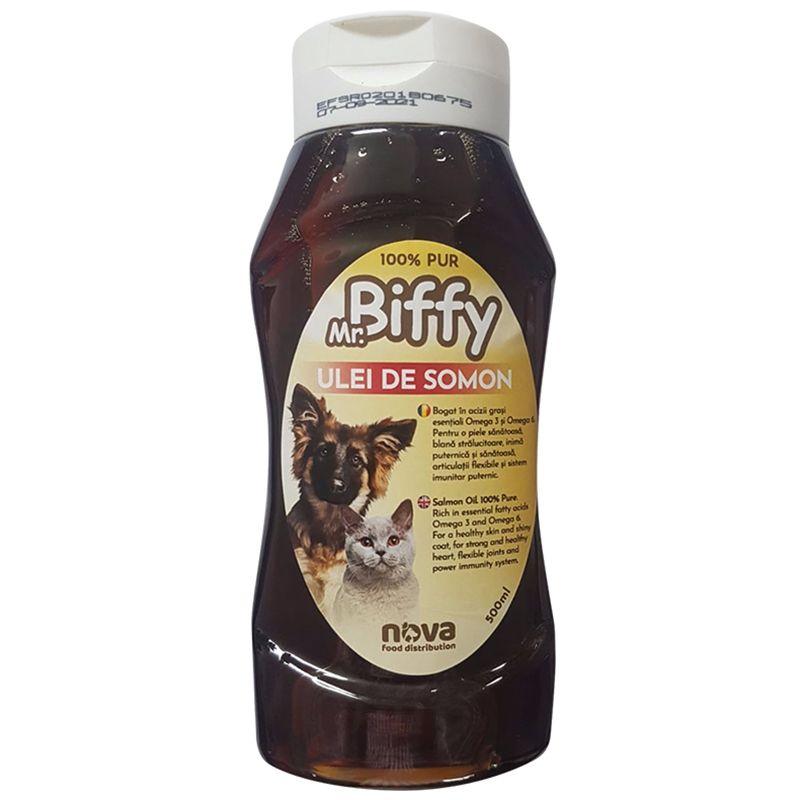 Ulei De Somon Mr. Biffy 500 Ml shop4pet.ro