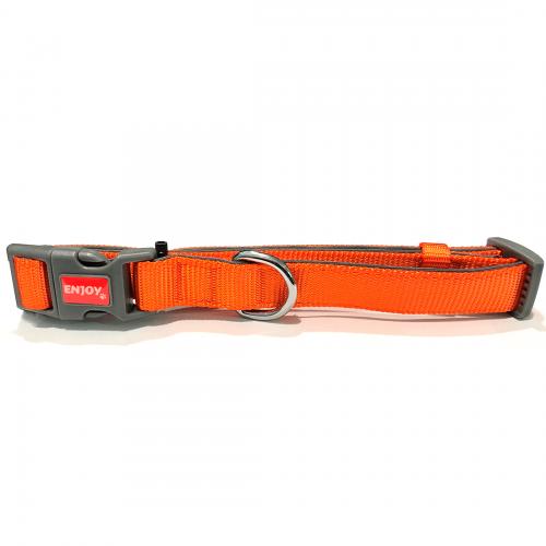 Zgarda Orange Enjoy Pentru Caini Din Nylon si Neopren 28-42 Cm shop4pet.ro