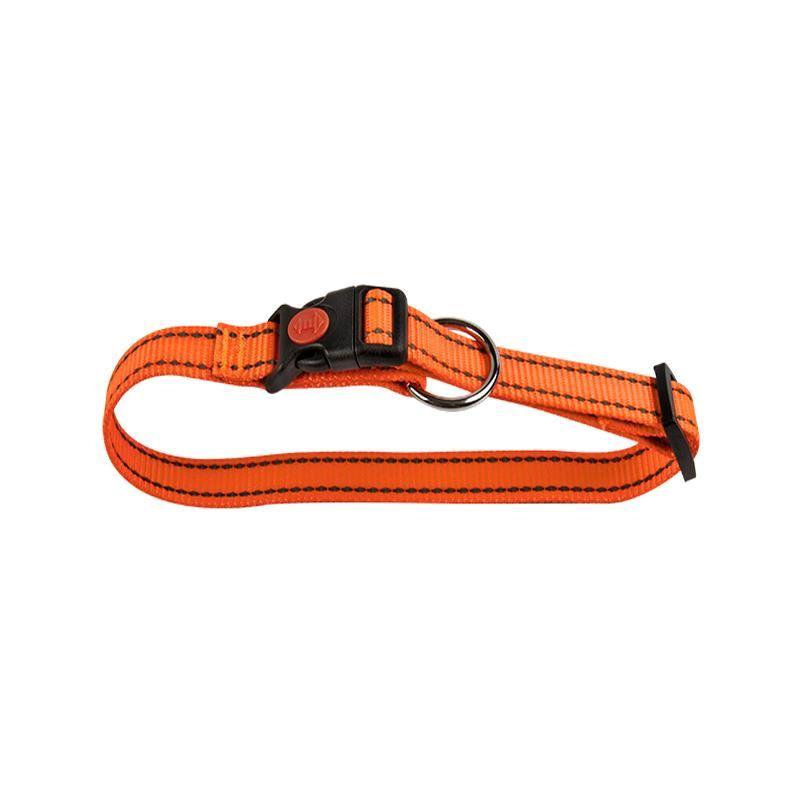 Zgarda Caine Nylon Orange Reflectorizant 20-35 Cm shop4pet.ro