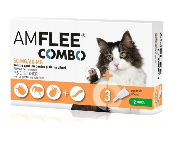 Pipeta Antiparazitara Amflee Combo Pentru Pisici shop4pet.ro