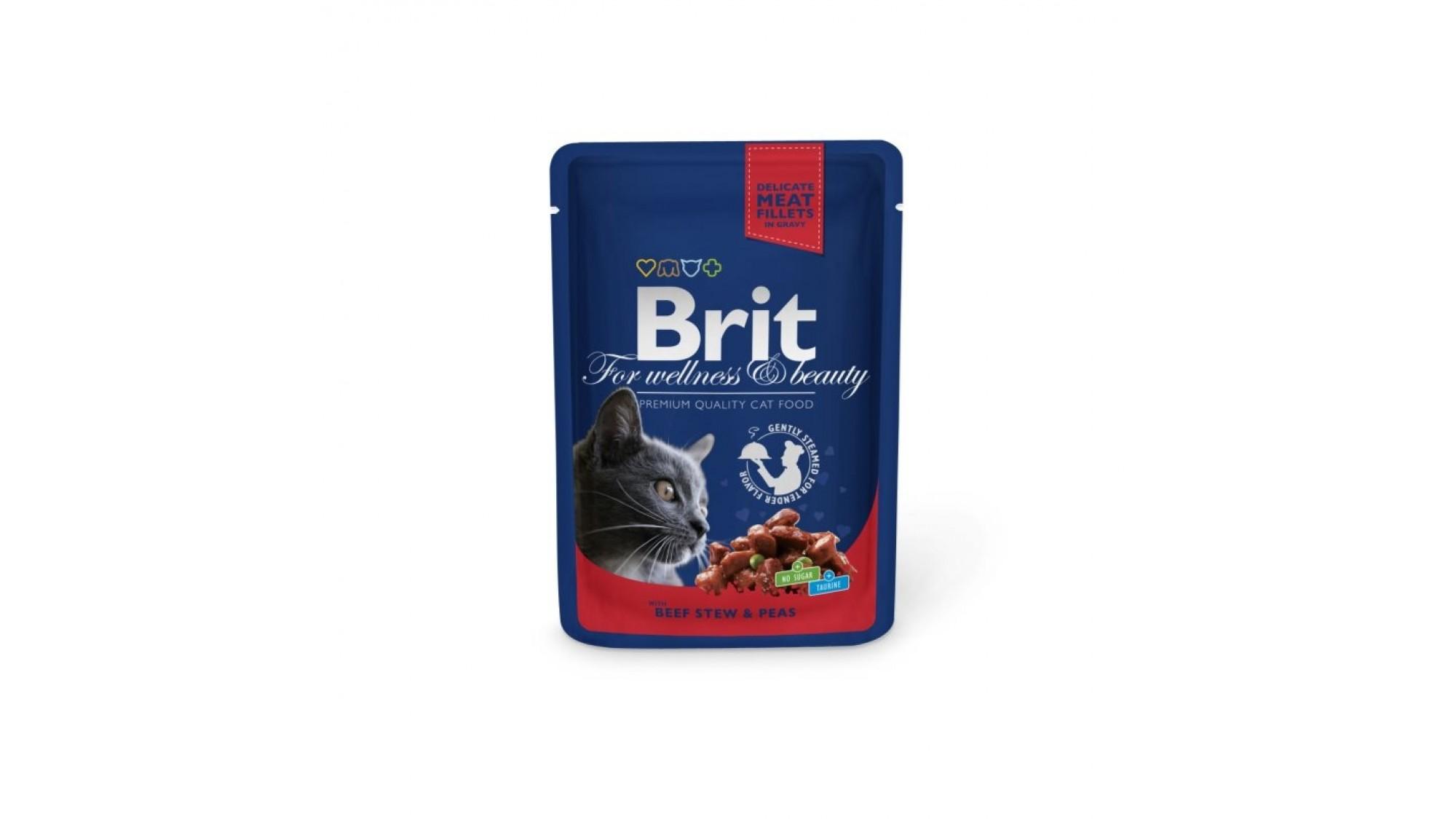 Brit Premium Cat Plic Cu Vita Si Mazare 100 Gr 7 Plus 2 gratis shop4pet.ro