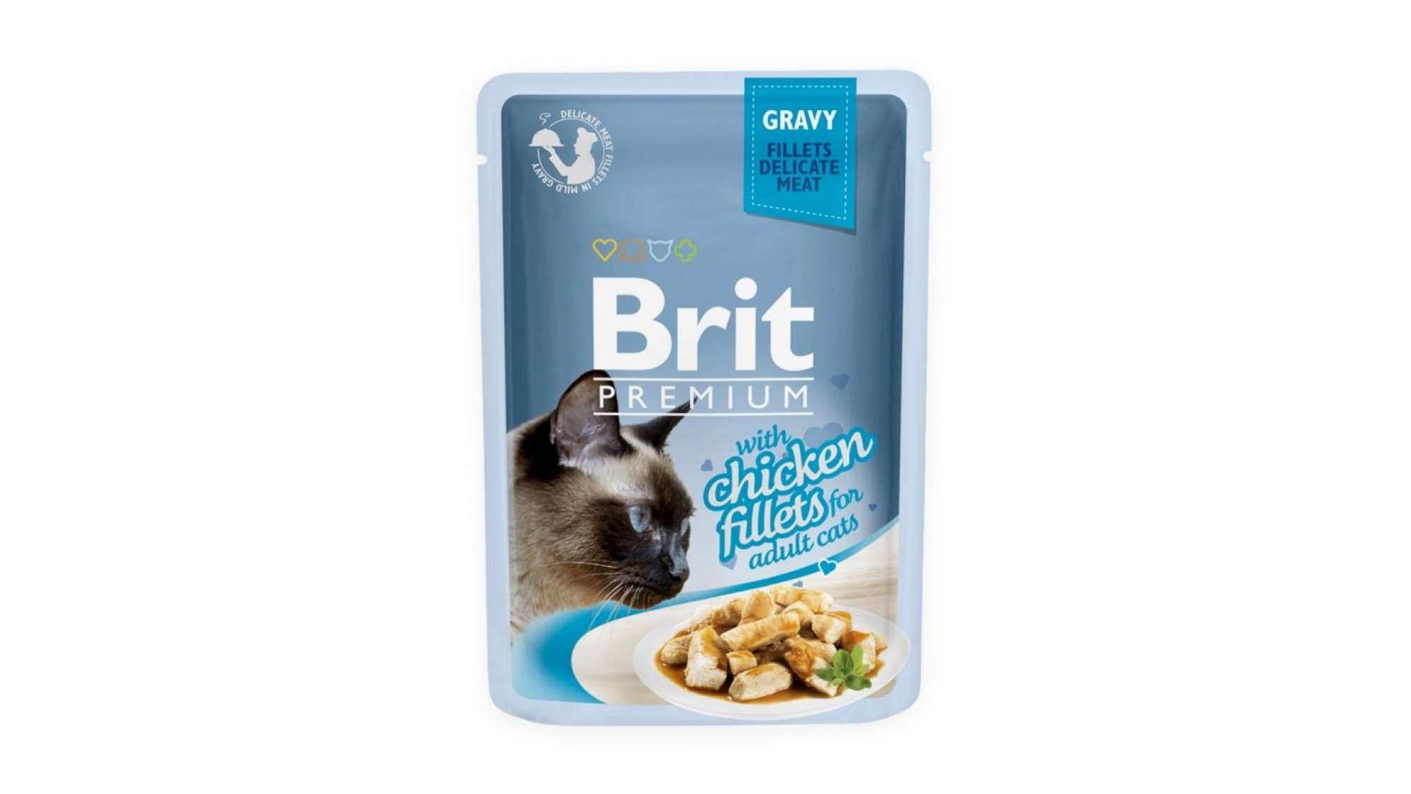 Brit Cat Delicate Chicken In Gravy 85 Gr 5 Plus 2 Gratis shop4pet.ro