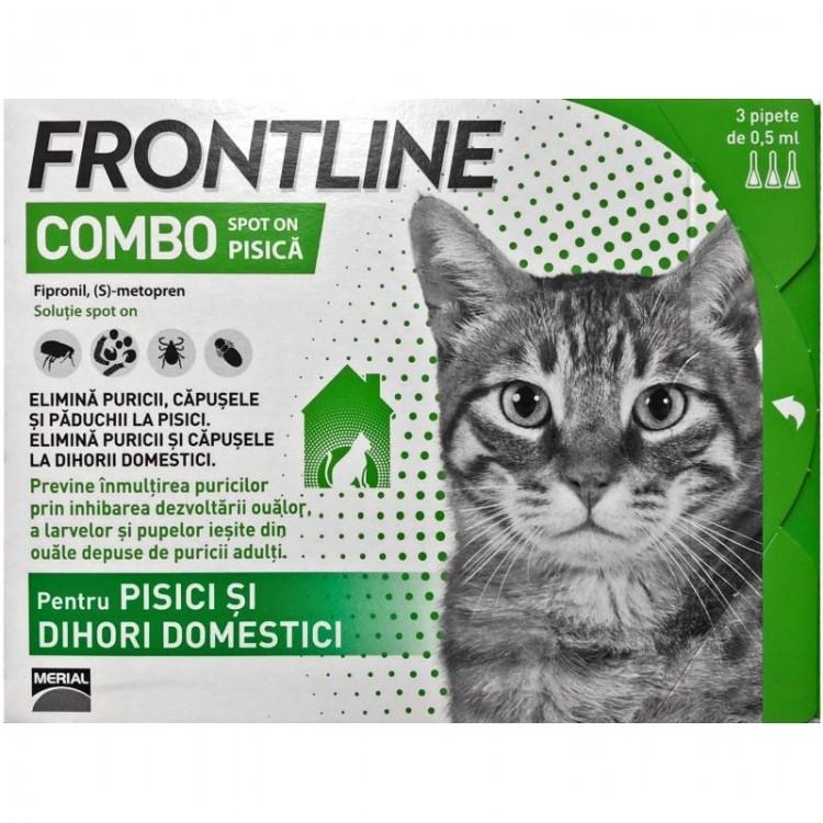 Frontline Combo Spot On Pisica 1 Pipeta shop4pet.ro