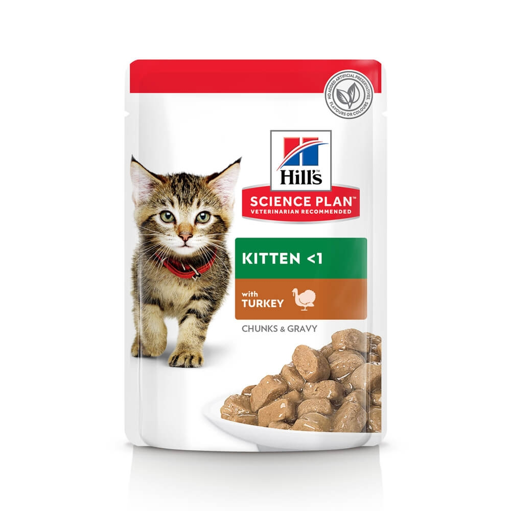 Hill's Feline Kitten Plic cu Curcan 85 g 4 Plus 1 Gratis shop4pet.ro