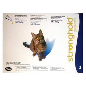 Stronghold Pisica 45 mg 2.6-7.5 kg 1 pipeta shop4pet.ro